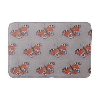 Medium Bath Mat with Peacock Butterfly Design 2