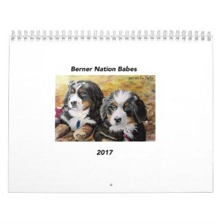 Medium Berner Nation Babes 2017 calender Wall Calendar