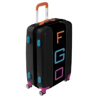MEDIUM Black+Orange+Blue+Purple Monogram Luggage