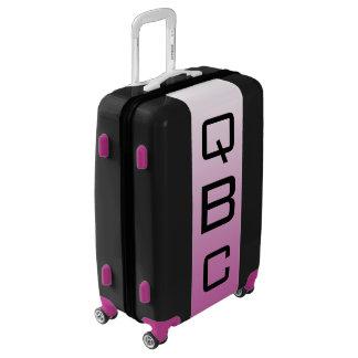 MEDIUM Black + White-Purple Ombre Monogram Luggage