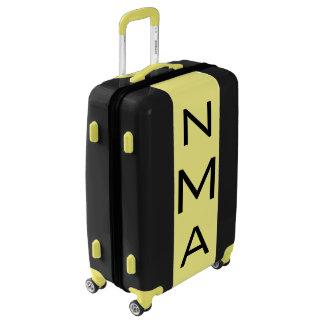 MEDIUM Black + Yellow Monogrammed Luggage