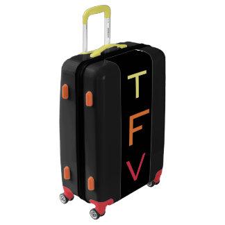 MEDIUM Black+Yellow+Orange+Red Monogrammed Luggage