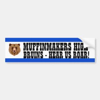 Medium Blue and White School Colors Bumper Sticker