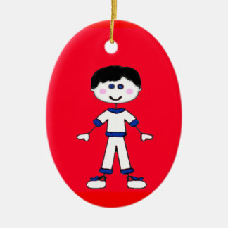 Medium Boy Stick Family Christmas Ornament