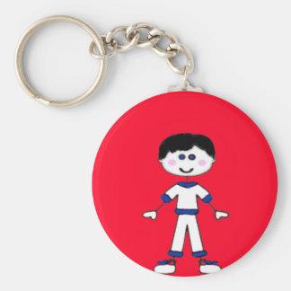 Medium Boy Stick Family Keychain