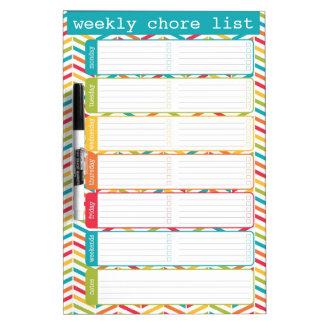 Medium Bright Weekly Chore List Dry Erase Board