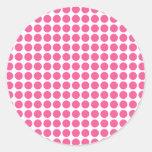 Medium Bubble Gum Dots Round Stickers