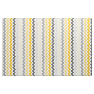 Medium Chevron Stripes Yellow Grey Fabric