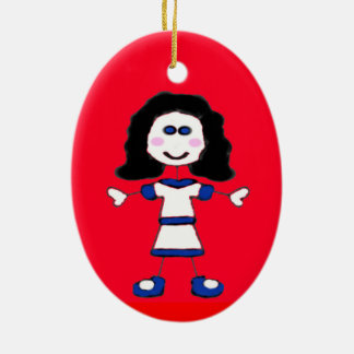 Medium Girl Stick Family Christmas Ornament