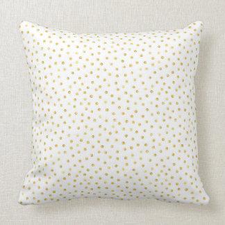 Medium Gold Watercolor Polka Dot Pattern Cushion