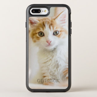 Medium Haired Orange And White Kitten OtterBox Symmetry iPhone 8 Plus/7 Plus Case