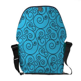 Medium Light Blue Spiral Messenger Bag