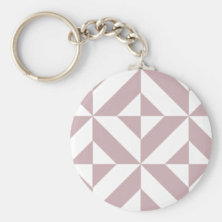 Medium Mauve Geometric Deco Cube Pattern Key Chains