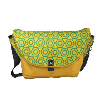 Medium Messenger Bag with Pattern Front