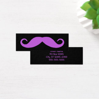 Medium Orchid Mustache Mini Business Card