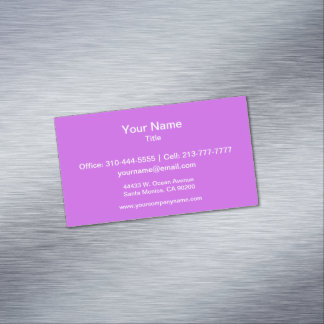 Medium Orchid Solid Color Magnetic Business Card