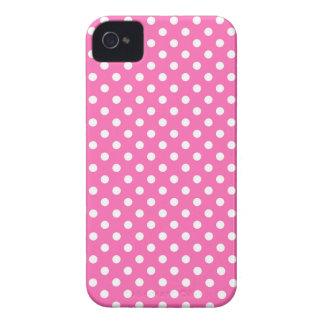 Medium Pink Fine Polka Dot Iphone 4/4S Case