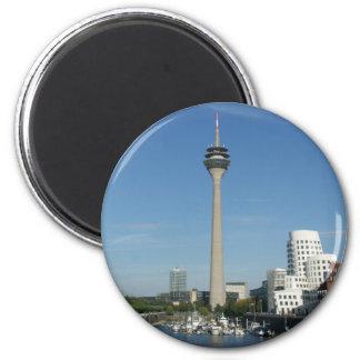 Medium port Duesseldorf 6 Cm Round Magnet