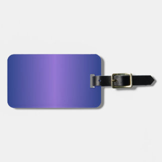 Medium Purple and Catalina Blue Gradient Luggage Tag