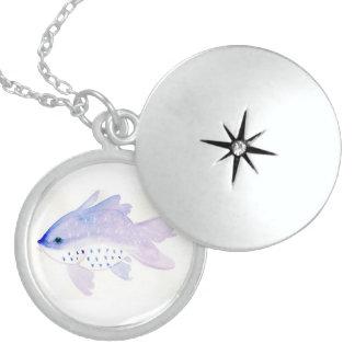 Medium Purple Fish Necklace