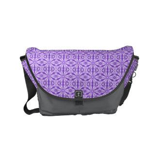Medium Purple Fractal Pattern Courier Bag