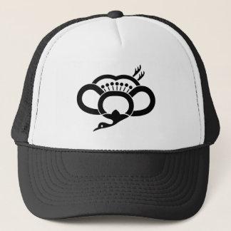 Medium shade plum crane trucker hat