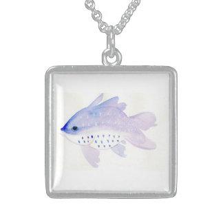 Medium Silver Fish Necklace