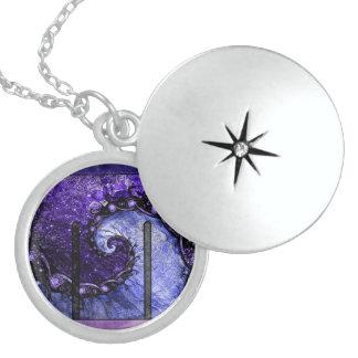 Medium Silver Locket -- Nocturne of Scorpio