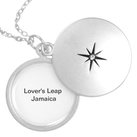 Medium Silver Plated Round Lockett Locket Necklace