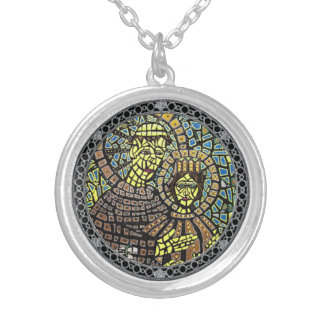 Medium Silver Plated Saint Anthony Necklace
