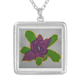 Medium Silver Plated Square Necklace