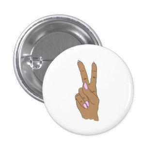 Medium Skin Peace Out Round Fashion Button