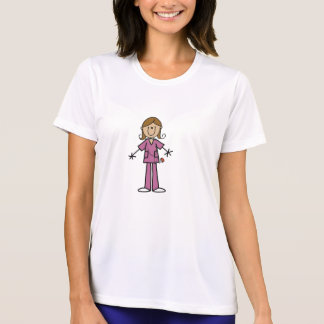 Medium Skin Stick Figure Female Nurse T-Shirt