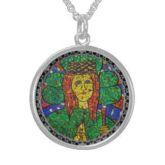 Medium St Dymphna Sterling Silver Necklace