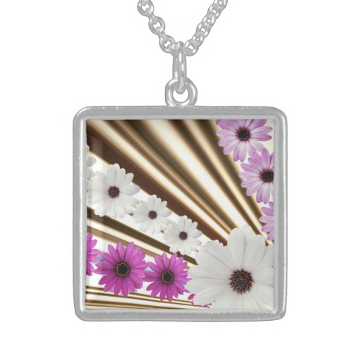 Medium Sterling Silver Square Necklace
