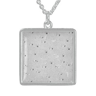 Medium Sterling Silver Square Necklace $ SILVER