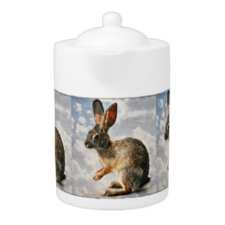 "Medium Teapot ""Praying Bunny in the Heavens"""