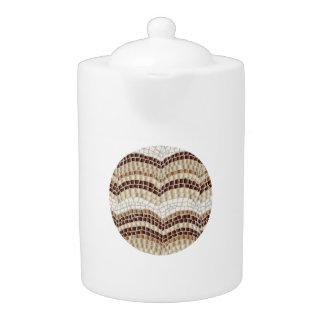 Medium teapot with beige mosaic