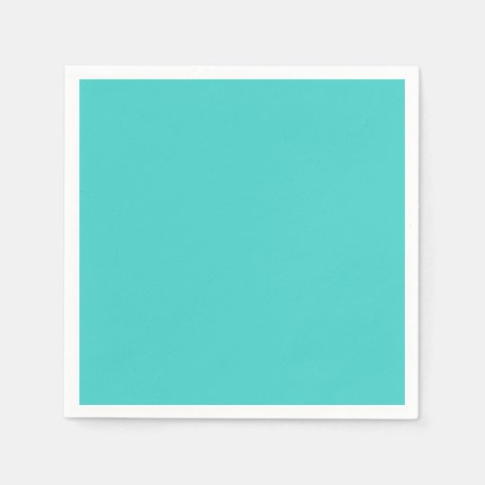 Medium Turquoise Standard Cocktail Napkin Paper Serviettes
