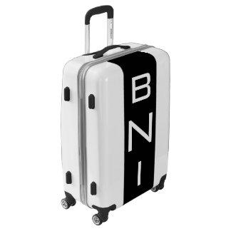 MEDIUM White + Black Monogrammed Luggage