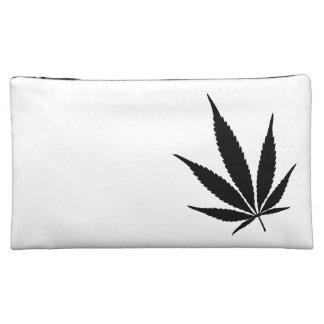 Medium White Potleaf Cosmetic Bag