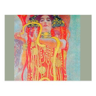 Medizin by Gustav Klimt,art nouveau,vintage,deco Postcard