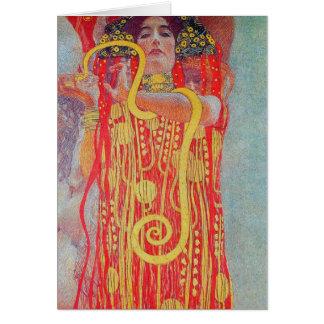 medizin by Gustav Klimt,vintage art,art deco,trend Greeting Card