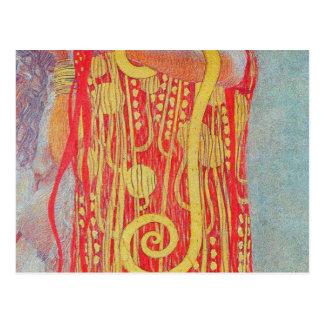 medizin by Gustav Klimt,vintage art,art deco,trend Postcard