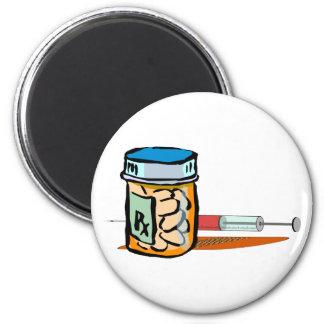 Medizin Pillen Spritze pills syringe Kühlschrankmagnet