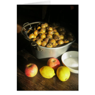Medlars, Apples and Lemons for Jam Making Card