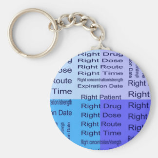 Meds 7 Rights Basic Round Button Key Ring