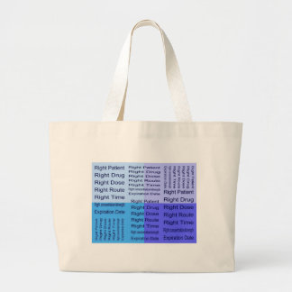 Meds 7 Rights Jumbo Tote Bag