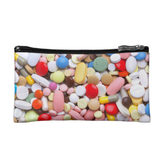 Meds ~ photo print of drugs / medication / pills cosmetics bags