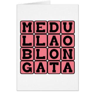 Medulla Oblongata, Lower Brain Stem Greeting Card